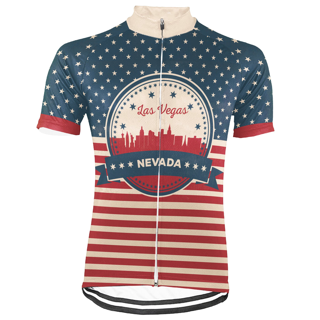 Customized Las Vegas Short Sleeve Cycling Jersey for Men