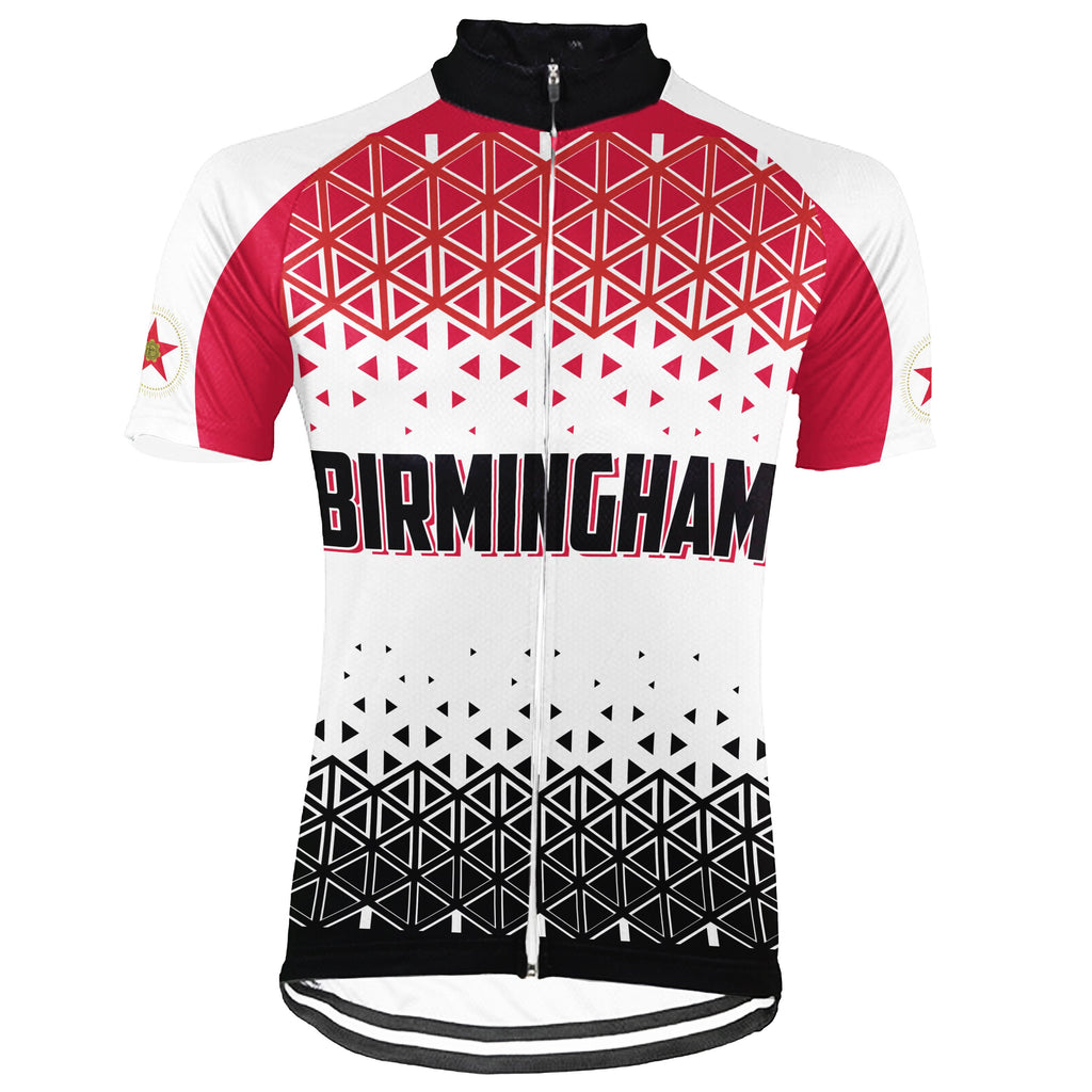 Customized Birmingham Short Sleeve Cycling Jersey for Men