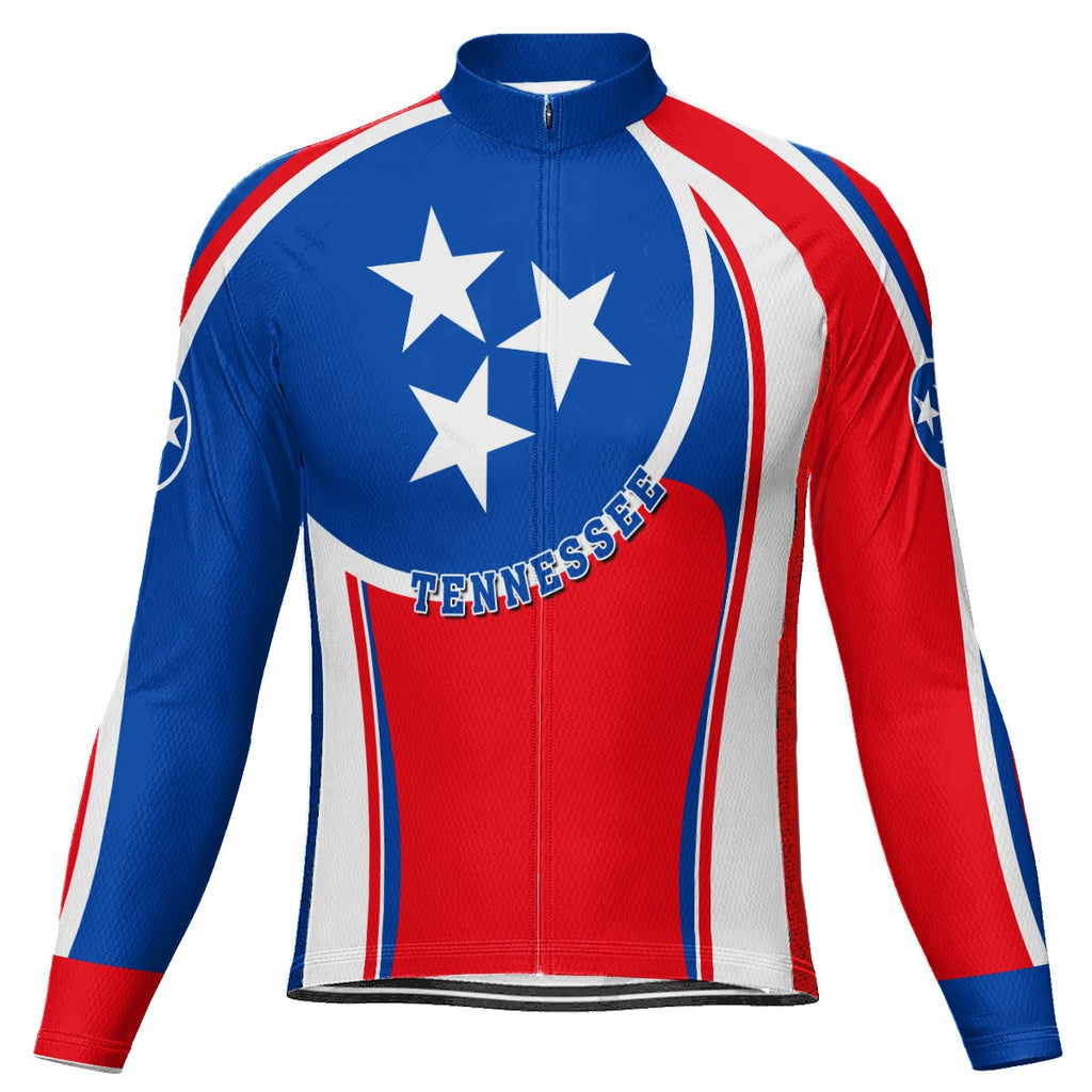 Customized Tennessee Long Sleeve Cycling Jersey for Men