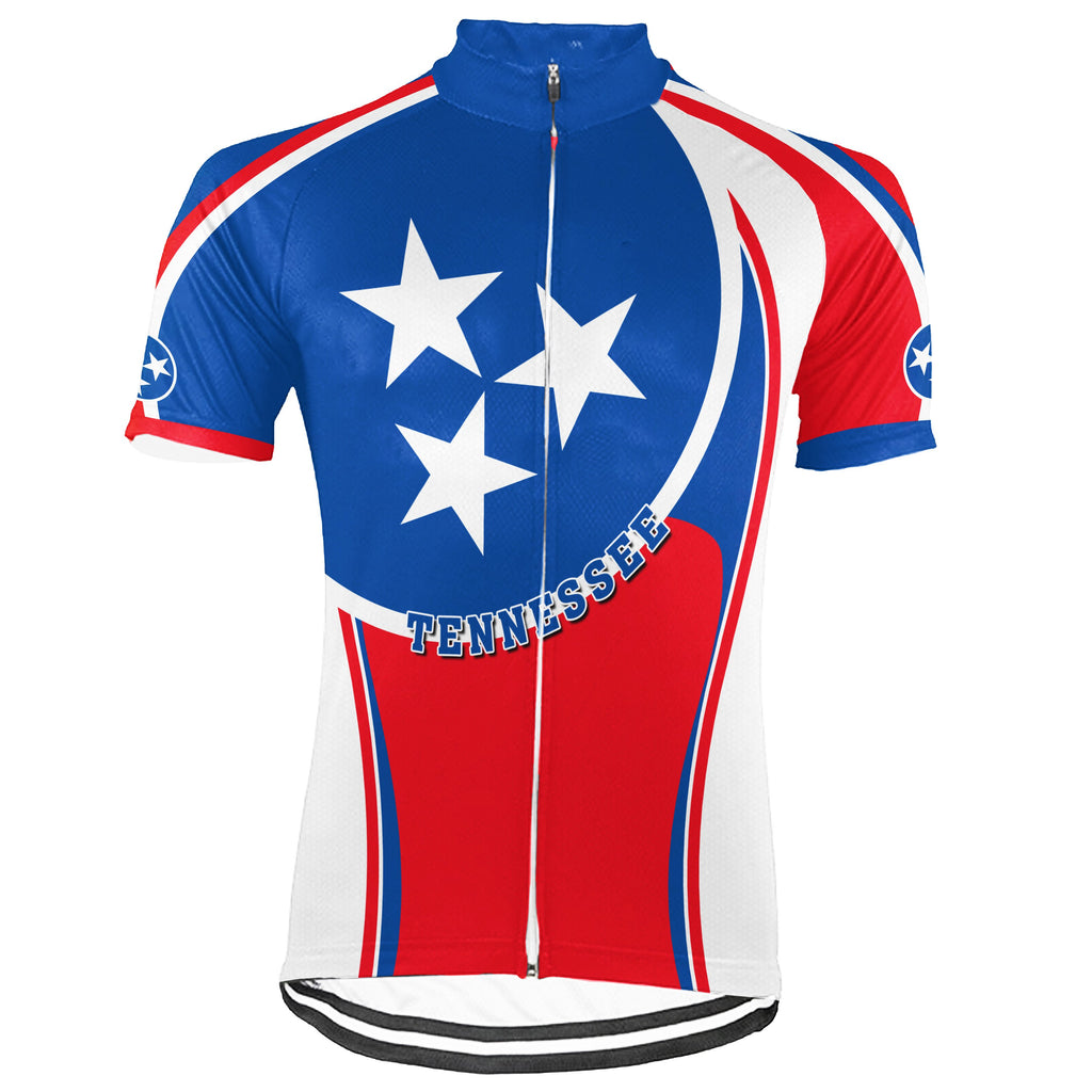 Customized Tennessee Short Sleeve Cycling Jersey for Men