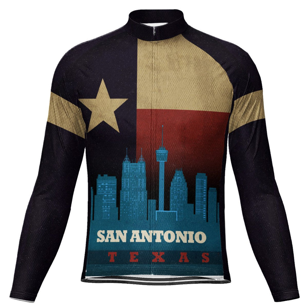 Customized San Antonio Long Sleeve Cycling Jersey for Men