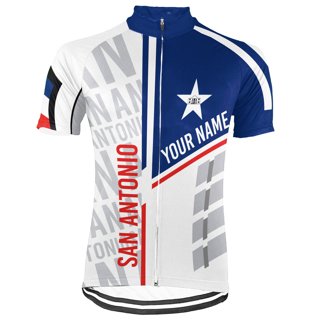 Customized San Antonio Short Sleeve Cycling Jersey for Men