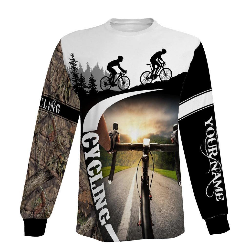 Personalized Cycling Jersey Men's Full Printing Biking Long Sleeve, Zip Up Hoodie, and Hoodie