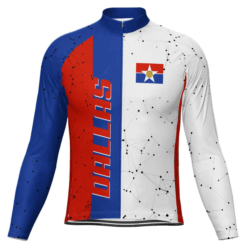Customized Dallas Long Sleeve Cycling Jersey for Men