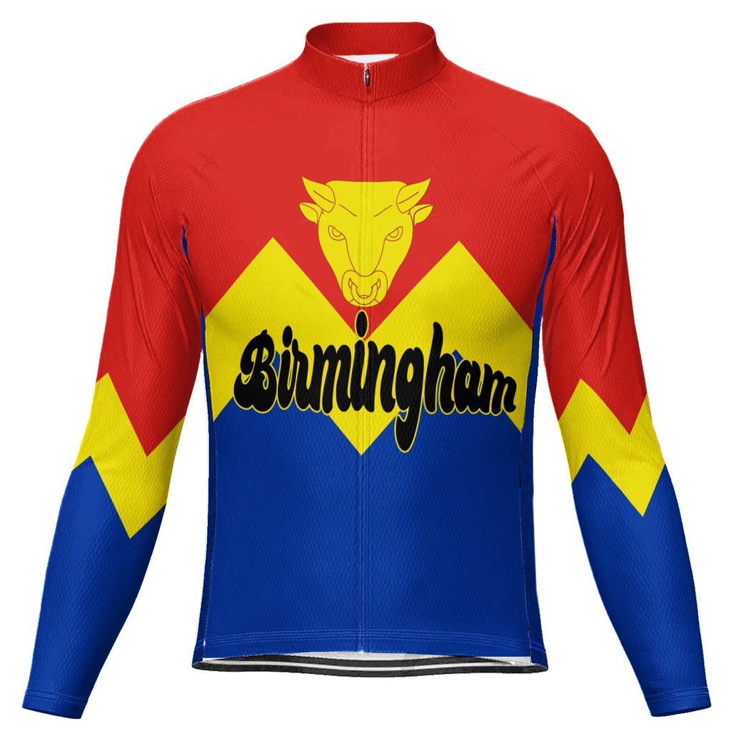 Customized Birmingham (England) Long Sleeve Cycling Jersey for Men