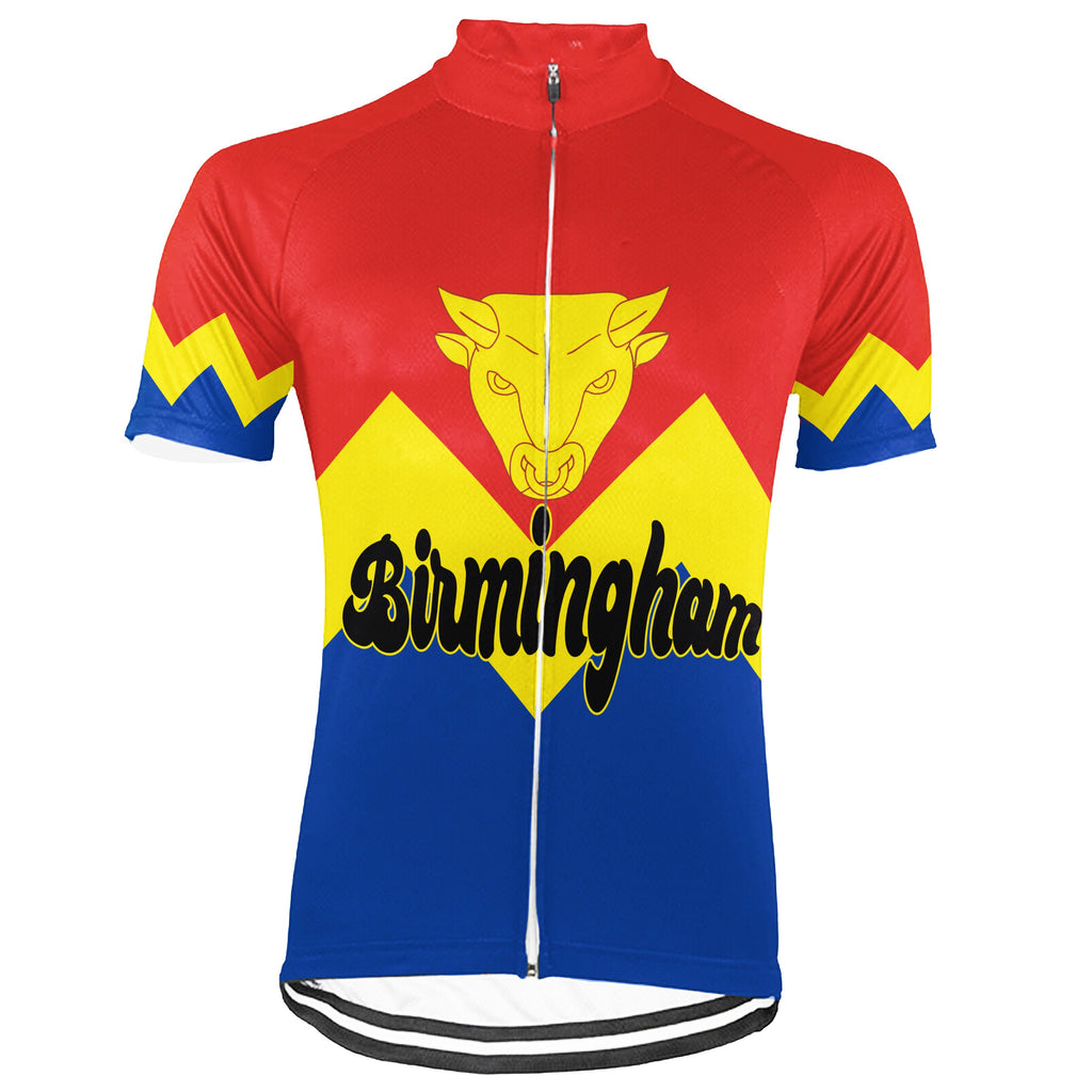Customized Birmingham (England) Short Sleeve Cycling Jersey for Men