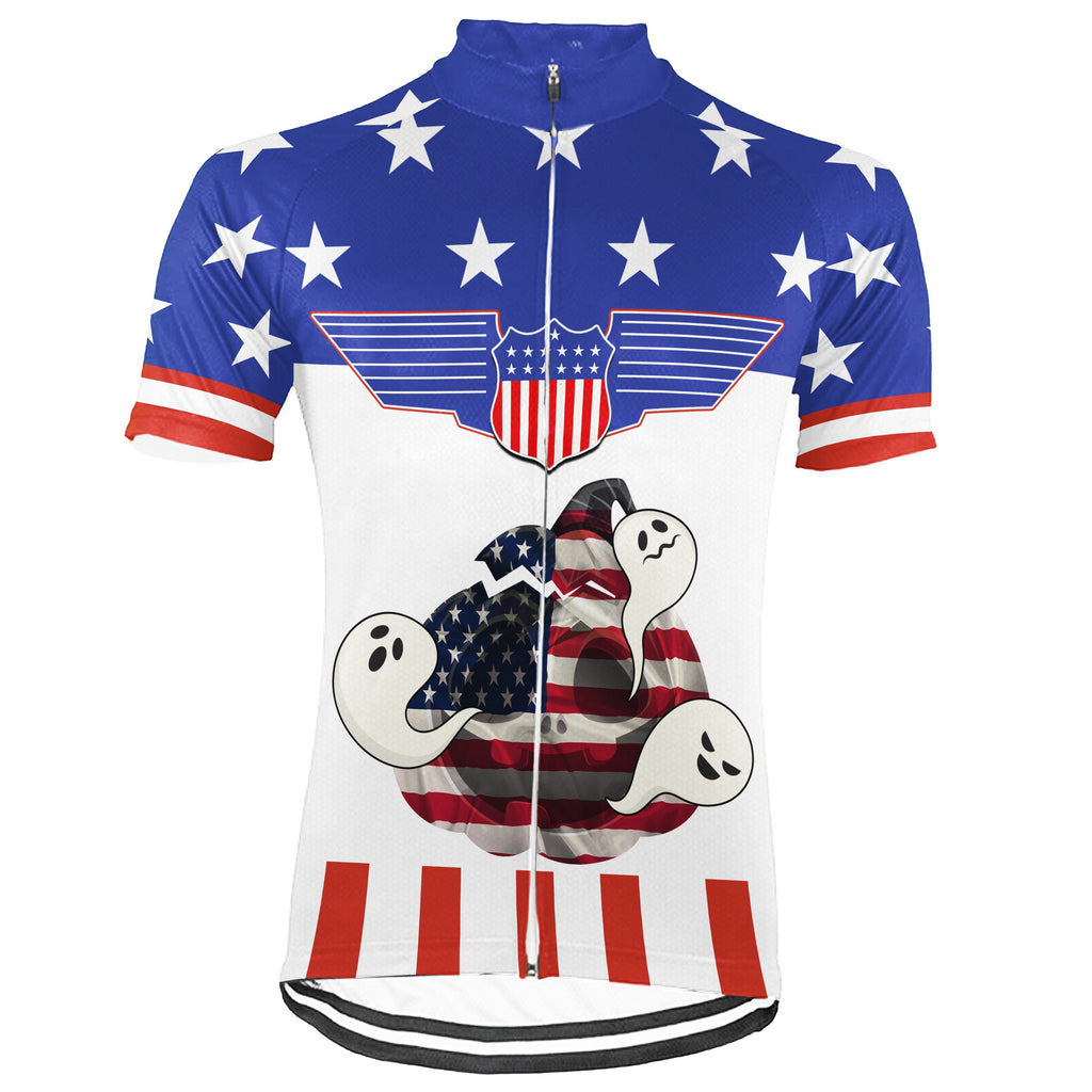 Customized Usa Short Sleeve Cycling Jersey for Men