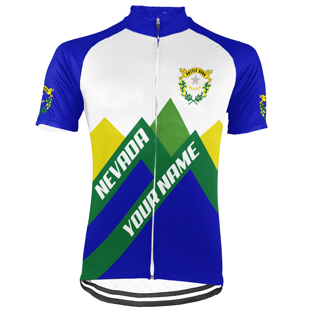 Customized Nevada Short Sleeve Cycling Jersey for Men