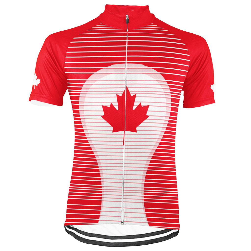 Personalized Canada Short Sleeve Cycling Jersey for Men