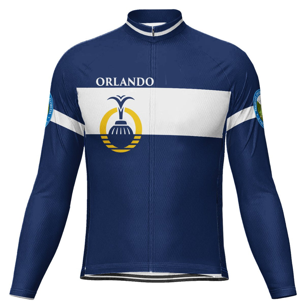 Customized Orlando Long Sleeve Cycling Jersey for Men