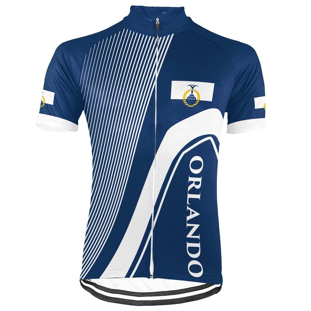 Customized Orlando Short Sleeve Cycling Jersey for Men