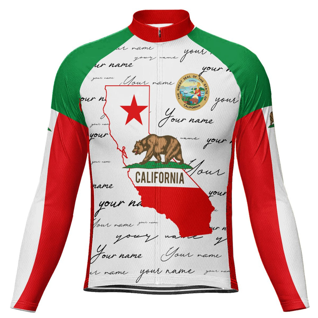 Customized California Long Sleeve Cycling Jersey for Men