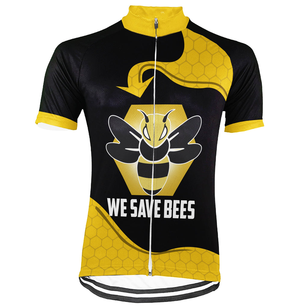 Customized Bee Short Sleeve Cycling Jersey for Men