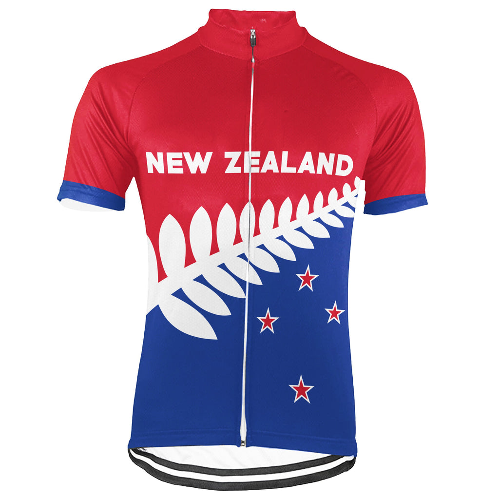 Customized New Zealand Short Sleeve Cycling Jersey for Men