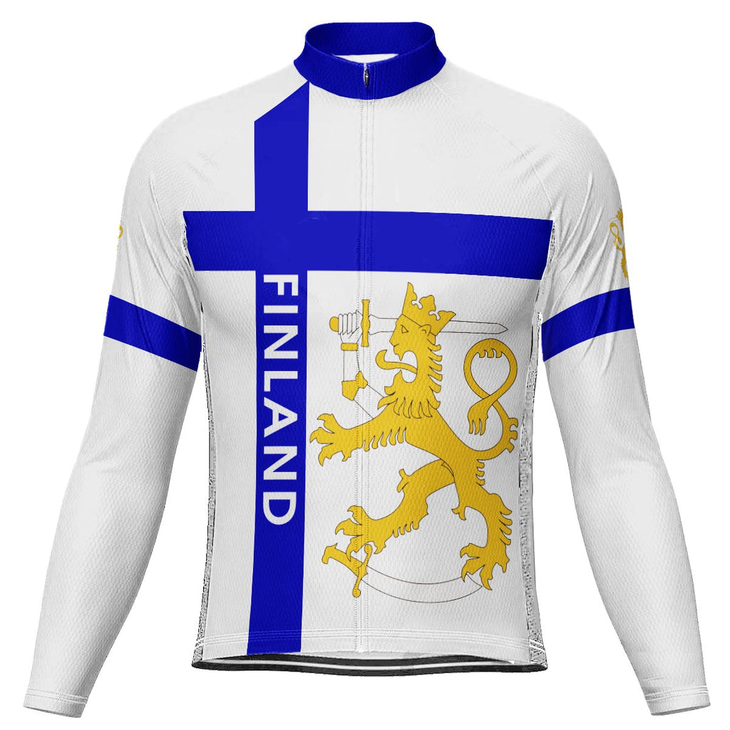 Customized Finland  Long Sleeve Cycling Jersey for Men