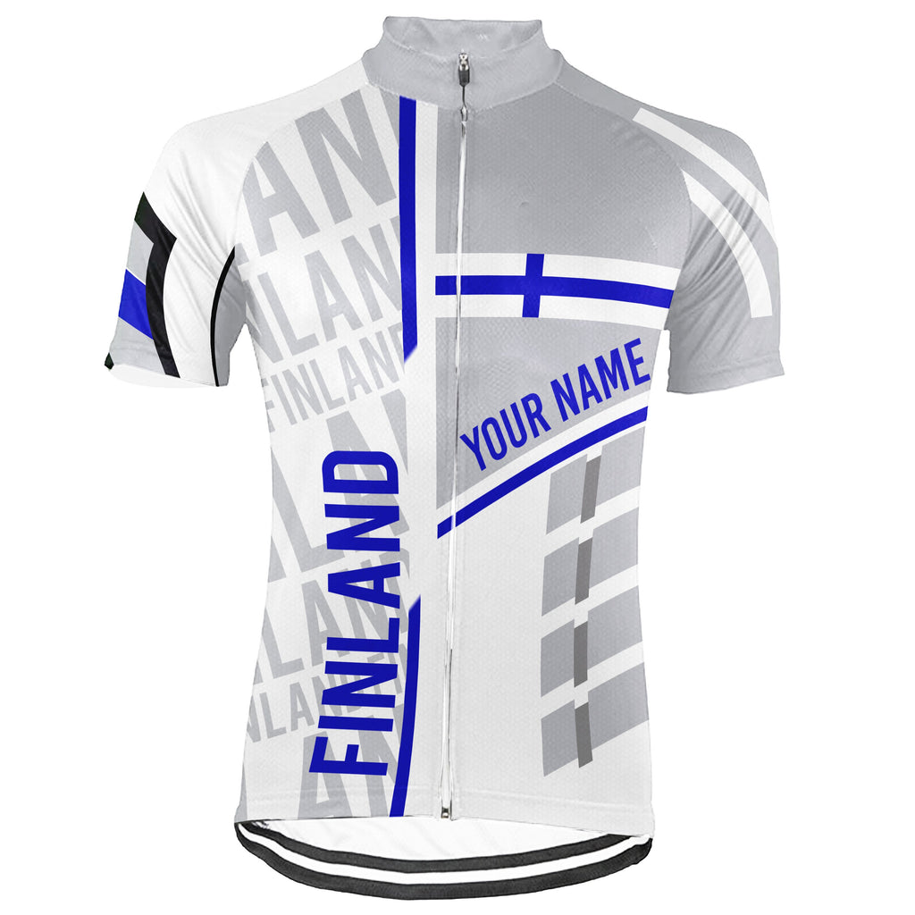 Customized Finland  Short Sleeve Cycling Jersey for Men