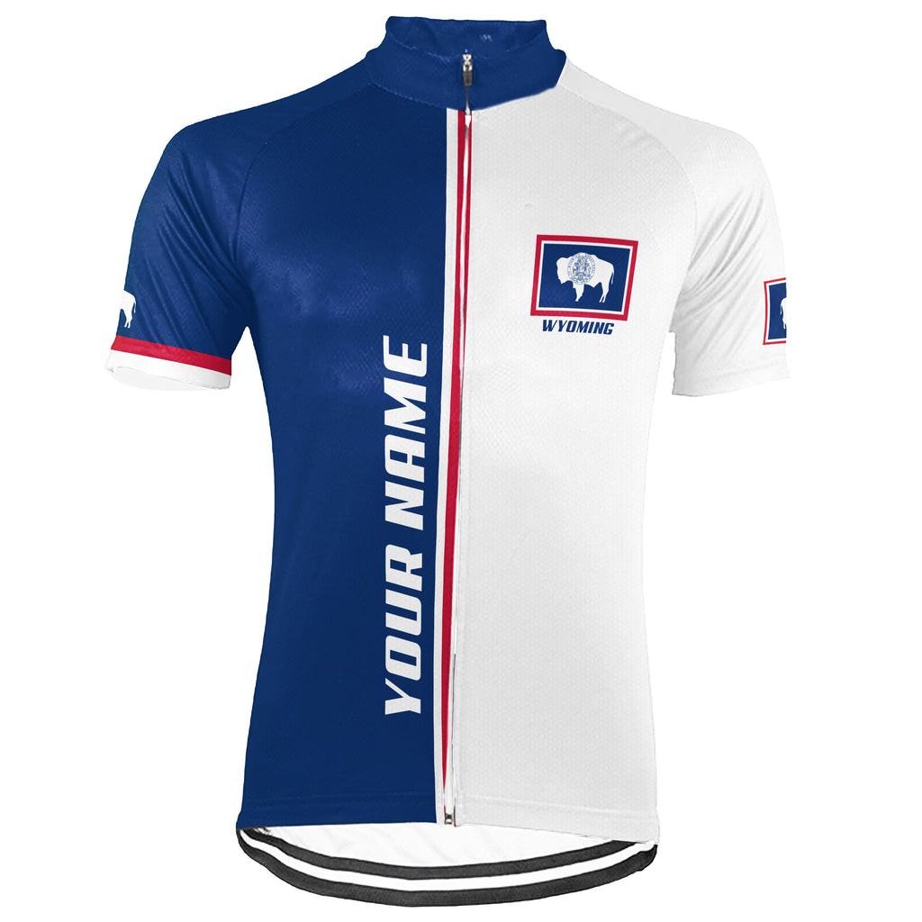 Customized Wyoming Short Sleeve Cycling Jersey for Men