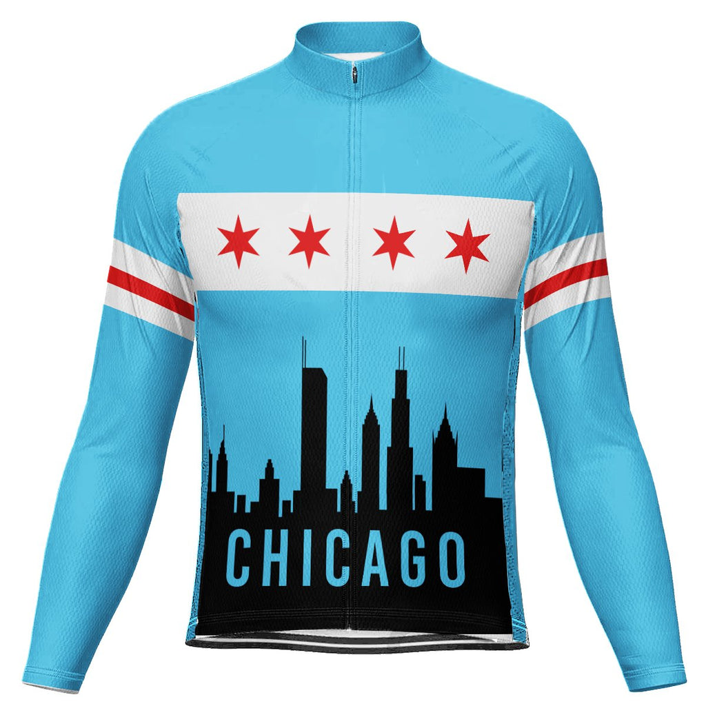 Customized Chicago Winter Thermal Fleece Long Sleeve For Men