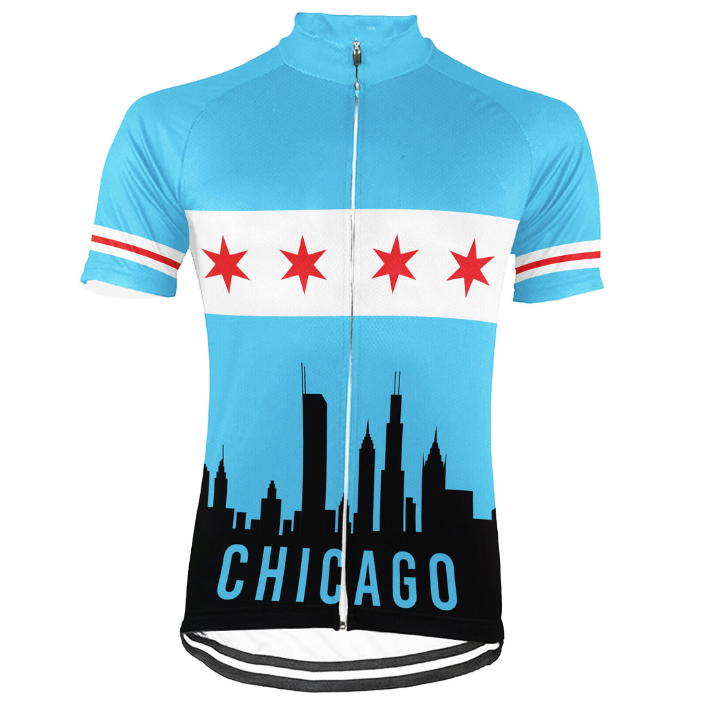 Customized Chicago Winter Thermal Fleece Short Sleeve For Men