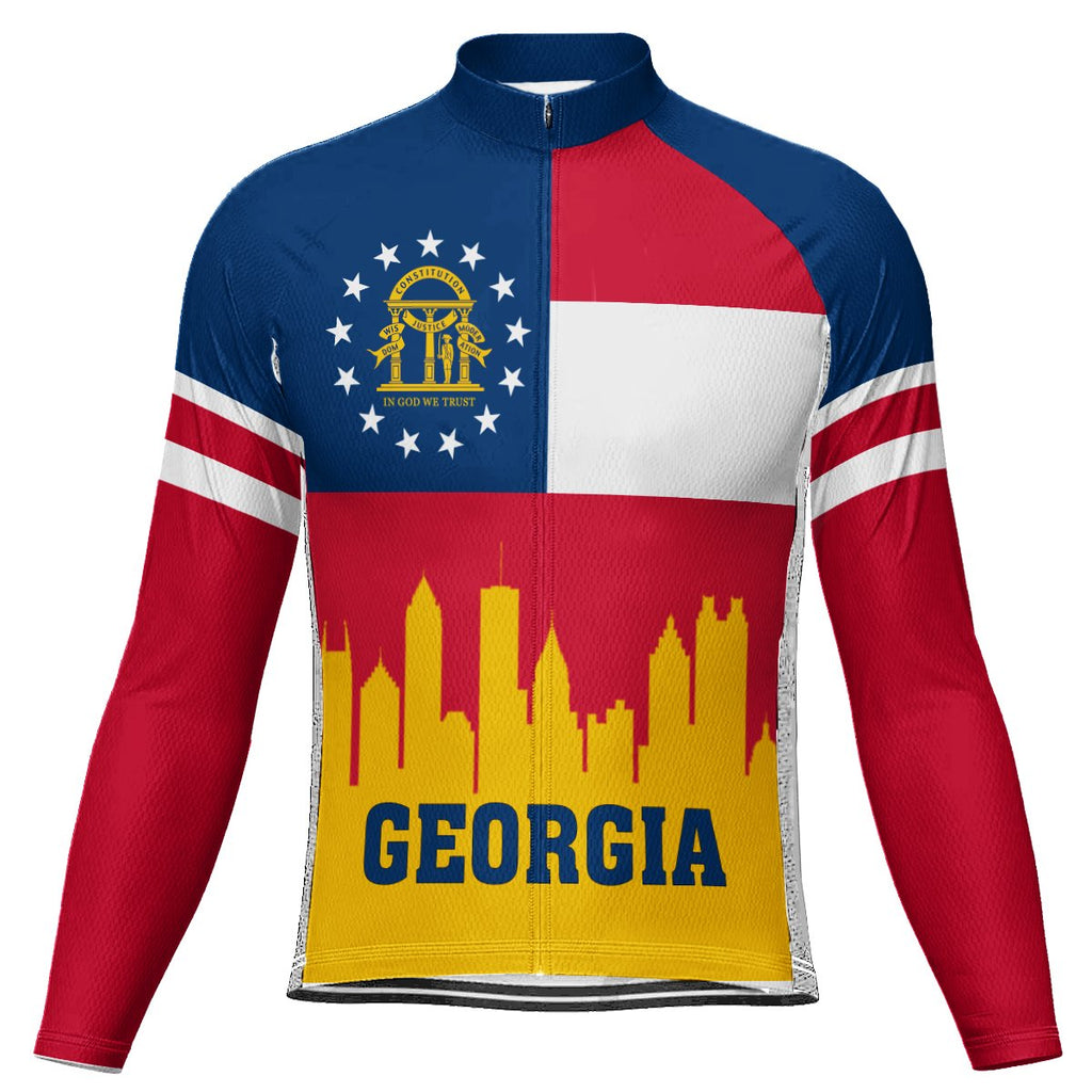 Customized Georgia Winter Thermal Fleece Long Sleeve For Men
