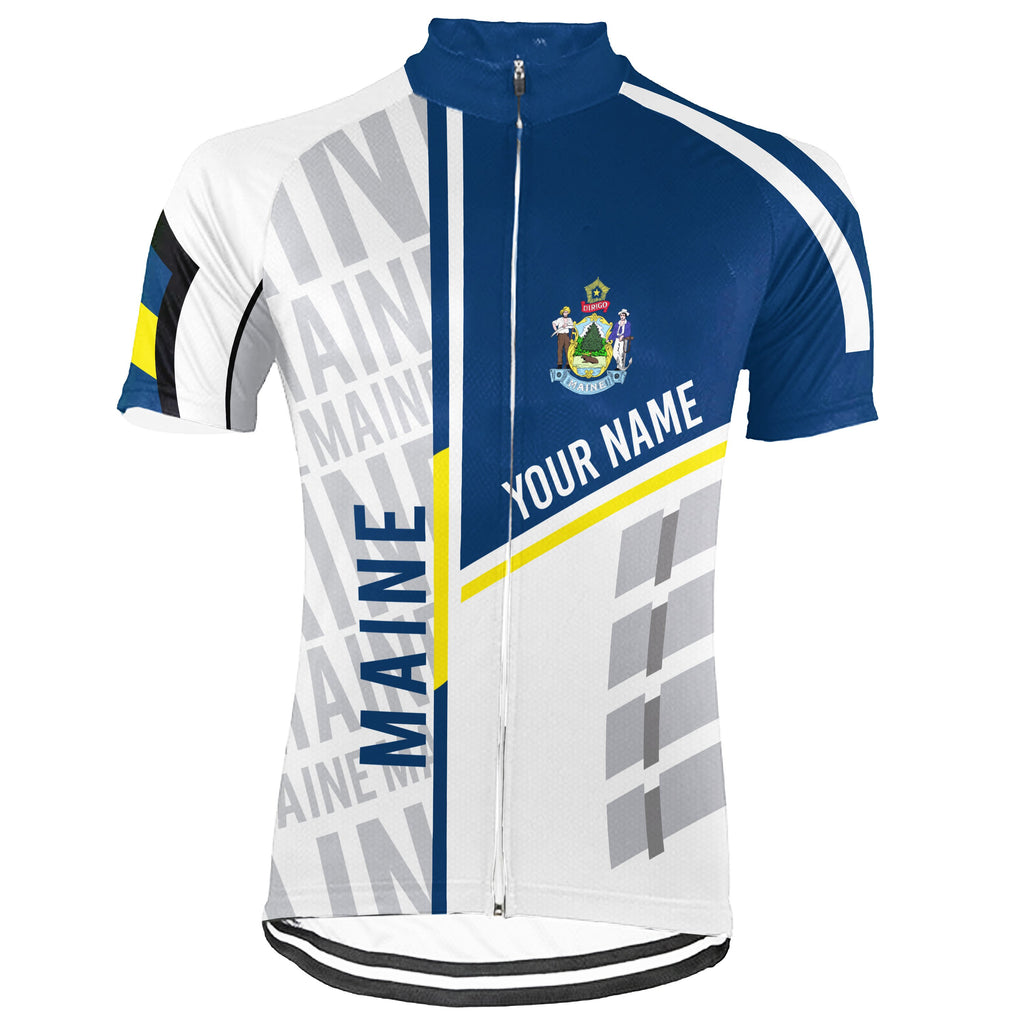 Customized Maine Short Sleeve Cycling Jersey for Men