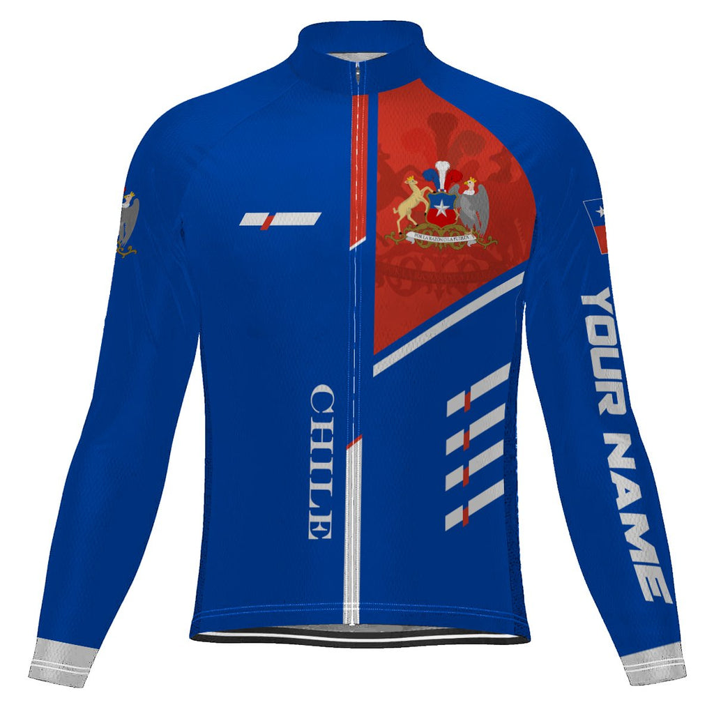 Customized Chile Long Sleeve Cycling Jersey for Men