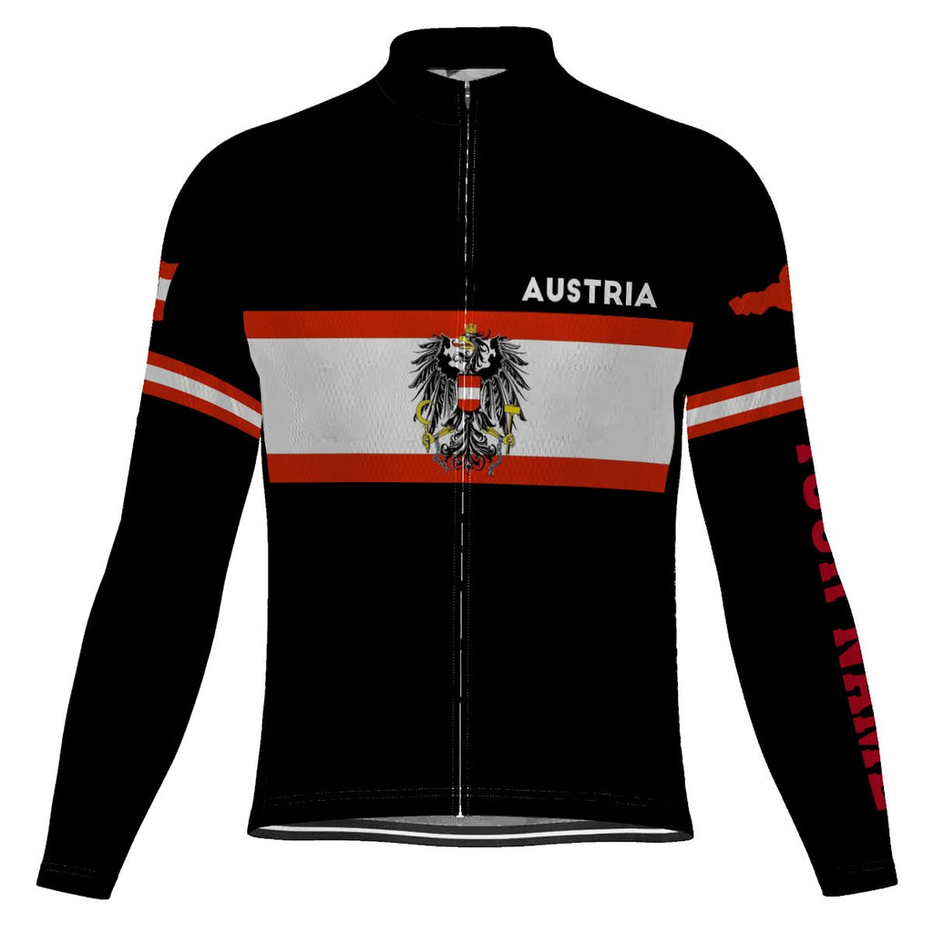 Customized Austria Long Sleeve Cycling Jersey for Men