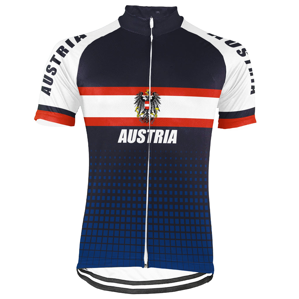 Customized Austria Short Sleeve Cycling Jersey for Men
