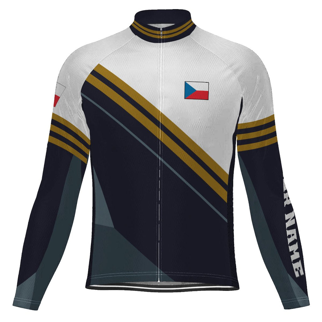 Customized Czech Long Sleeve Cycling Jersey for Men