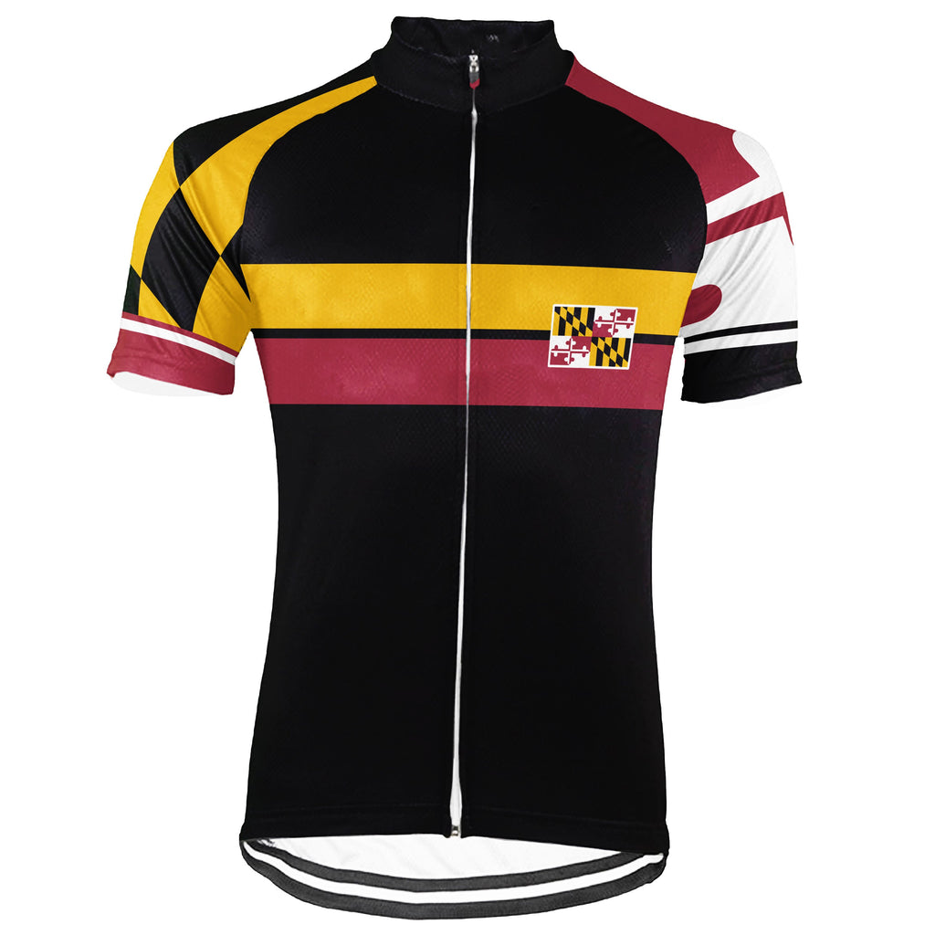 Customized Maryland Short Sleeve Cycling Jersey for Men