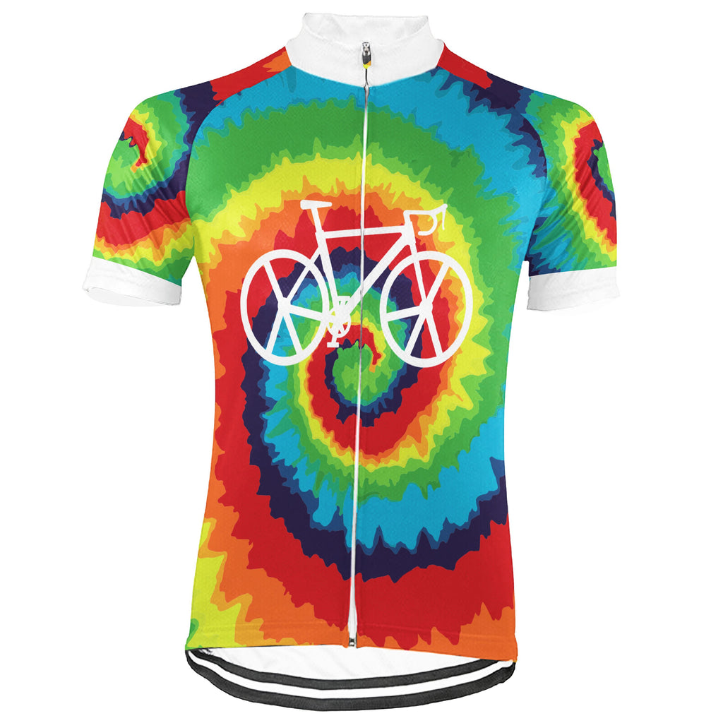 Customized Hippie Short Sleeve Cycling Jersey for Men