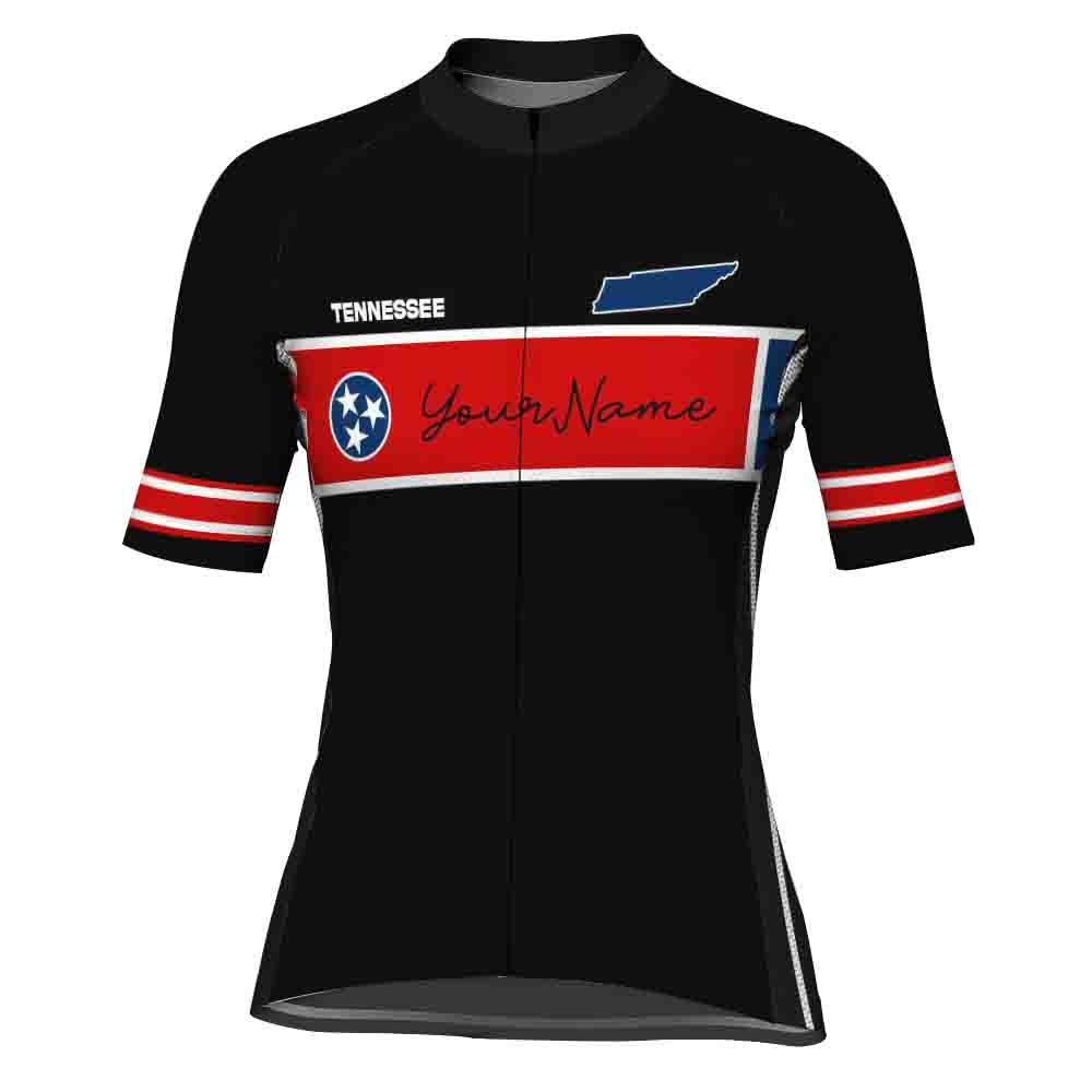 Customized Tennessee Short Sleeve Cycling Jersey for Women