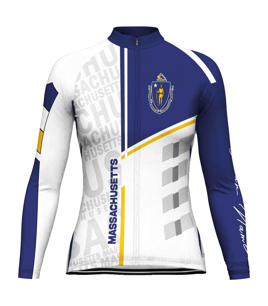 Customized Massachusetts Long Sleeve Cycling Jersey for Women