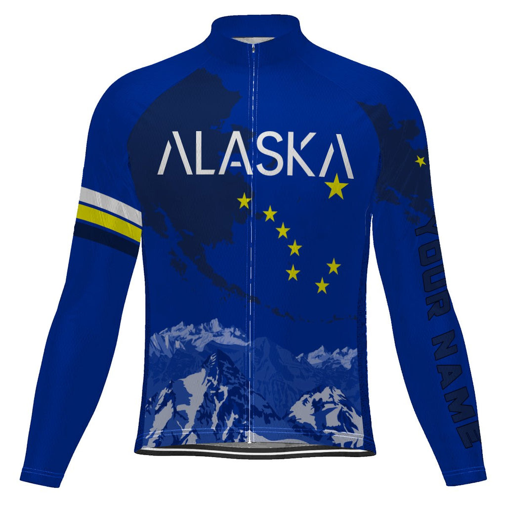 Customized Alaska Long Sleeve Cycling Jersey for Men