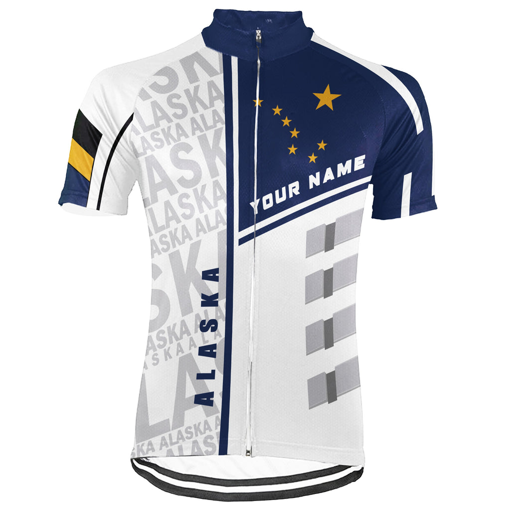 Customized Alaska Short Sleeve Cycling Jersey for Men