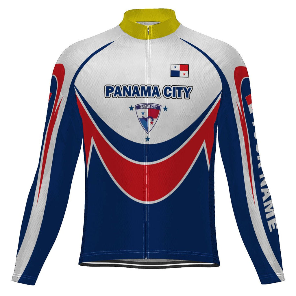 Customized Panama Long Sleeve Cycling Jersey for Men