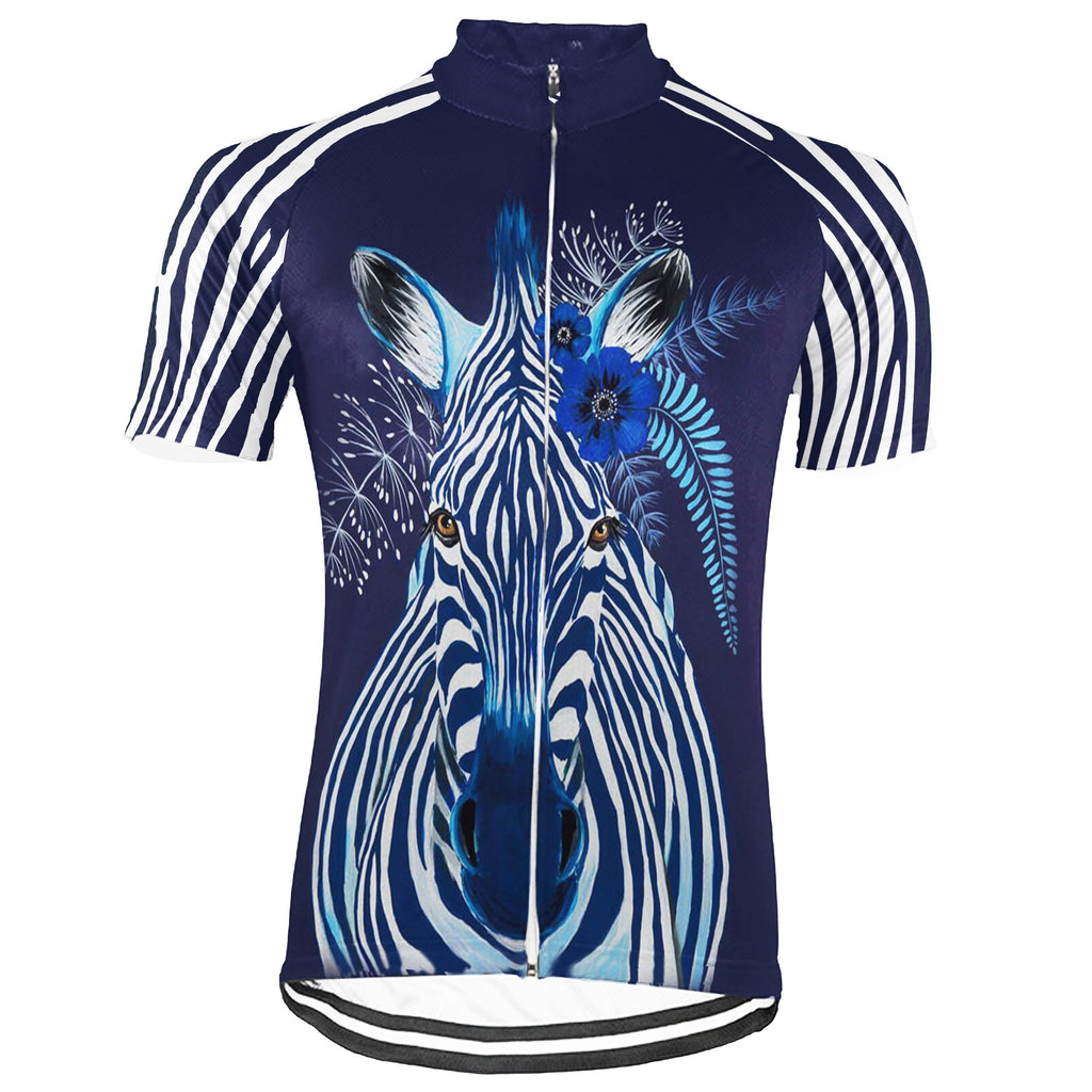 Customized Zebra Short Sleeve Cycling Jersey for Men