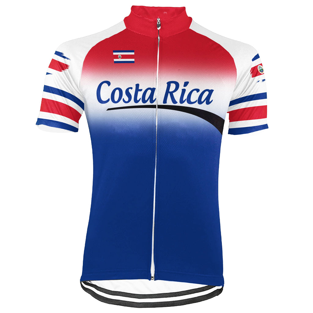 Customized Costa Rica Short Sleeve Cycling Jersey for Men
