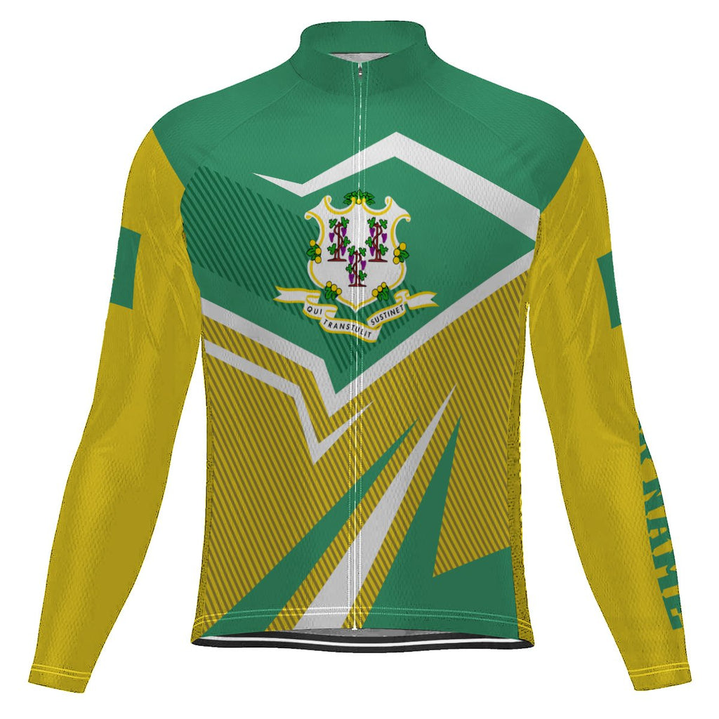 Customized Connecticut Long Sleeve Cycling Jersey for Men