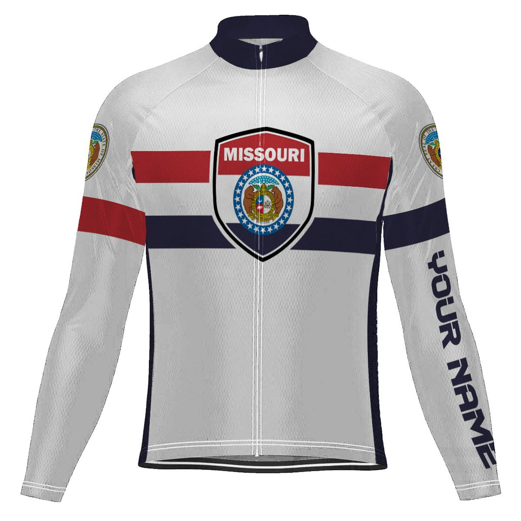 Customized Missouri Long Sleeve Cycling Jersey for Men