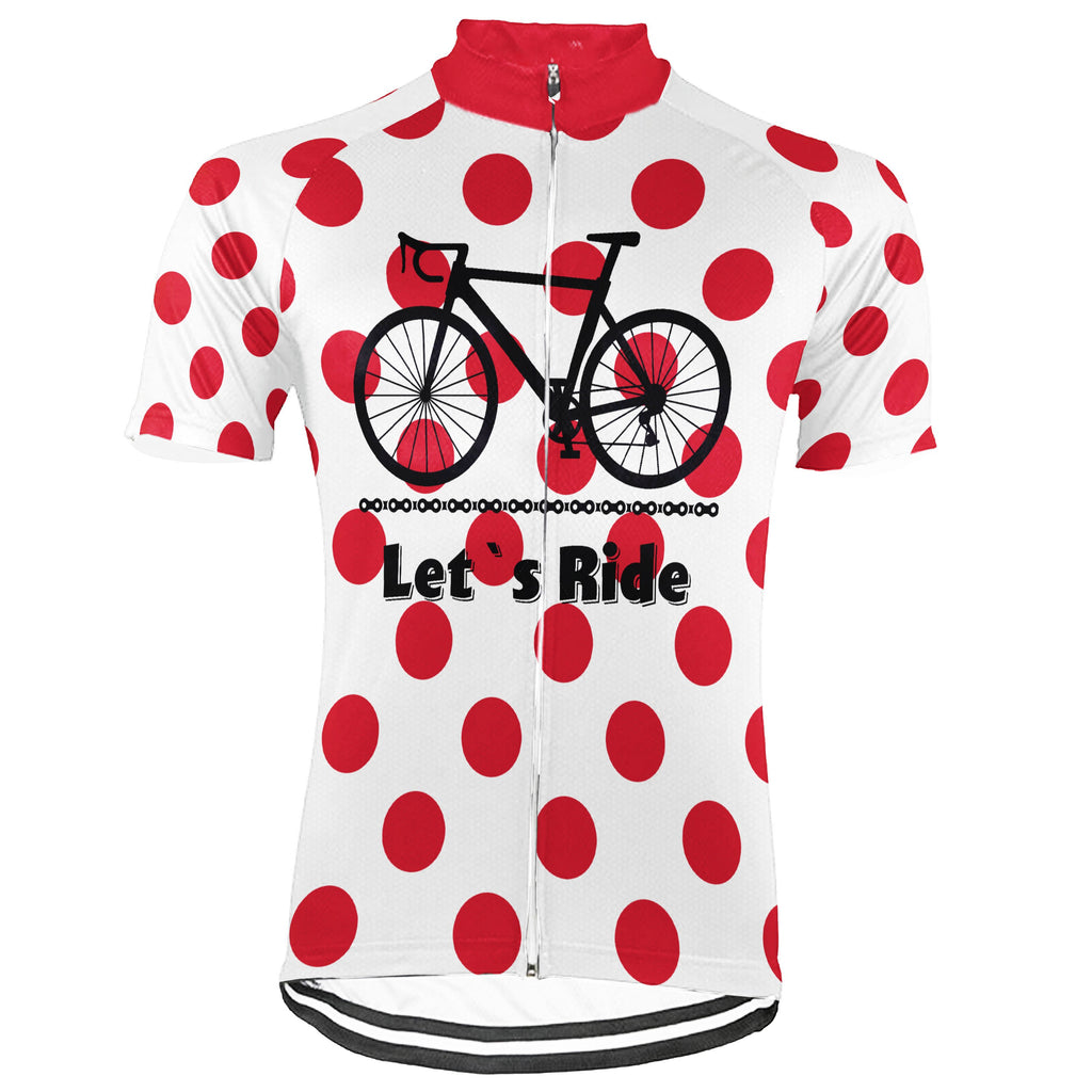 Customized Polka Dot Short Sleeve Cycling Jersey for Men