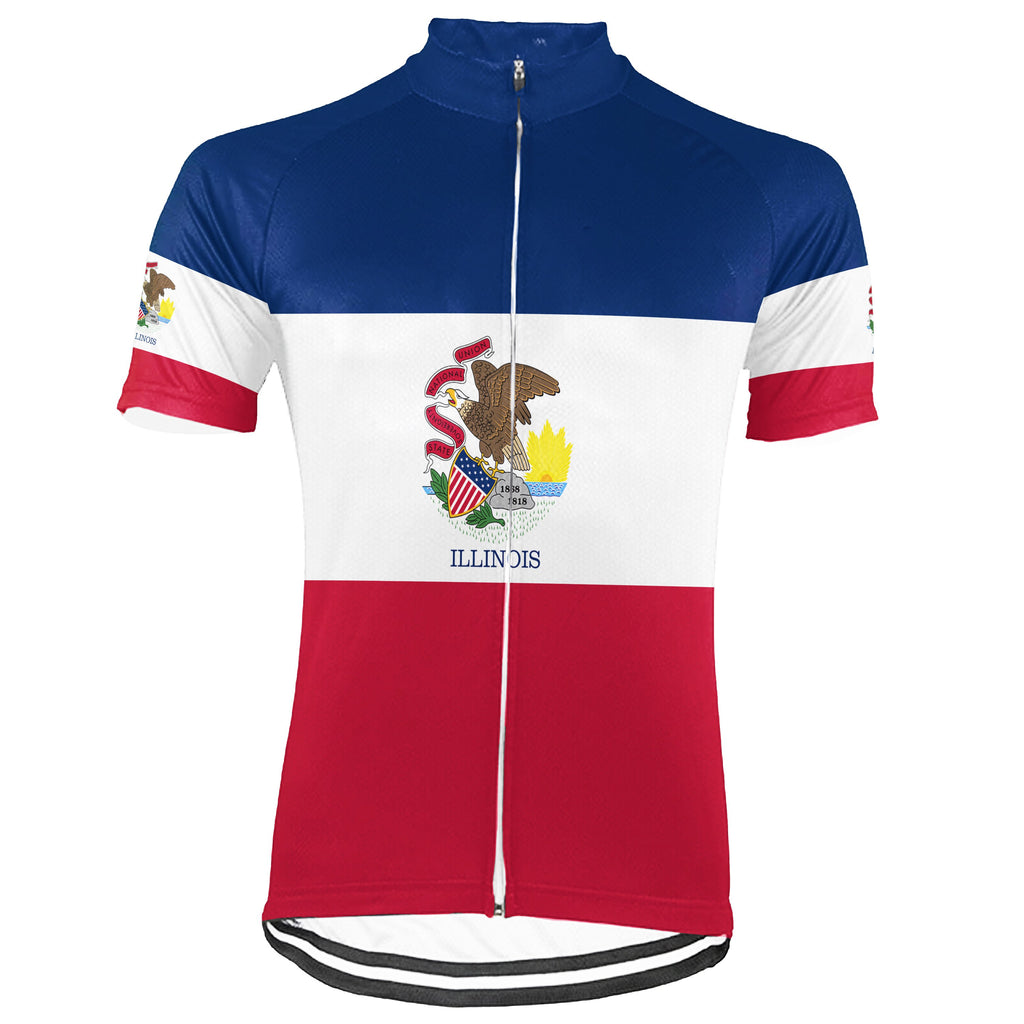 Customized Illinois Short Sleeve Cycling Jersey for Men