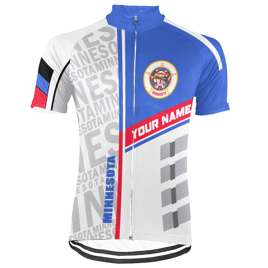 Customized Minnesota Short Sleeve Cycling Jersey for Men