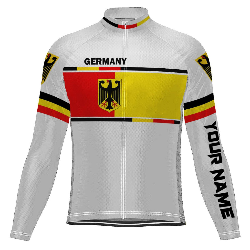Customized Germany Long Sleeve Cycling Jersey for Men