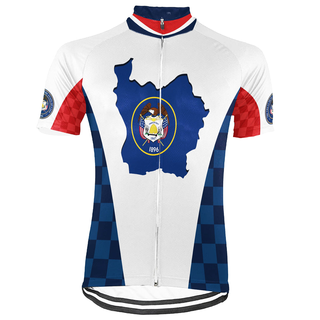 Customized Utah Short Sleeve Cycling Jersey for Men