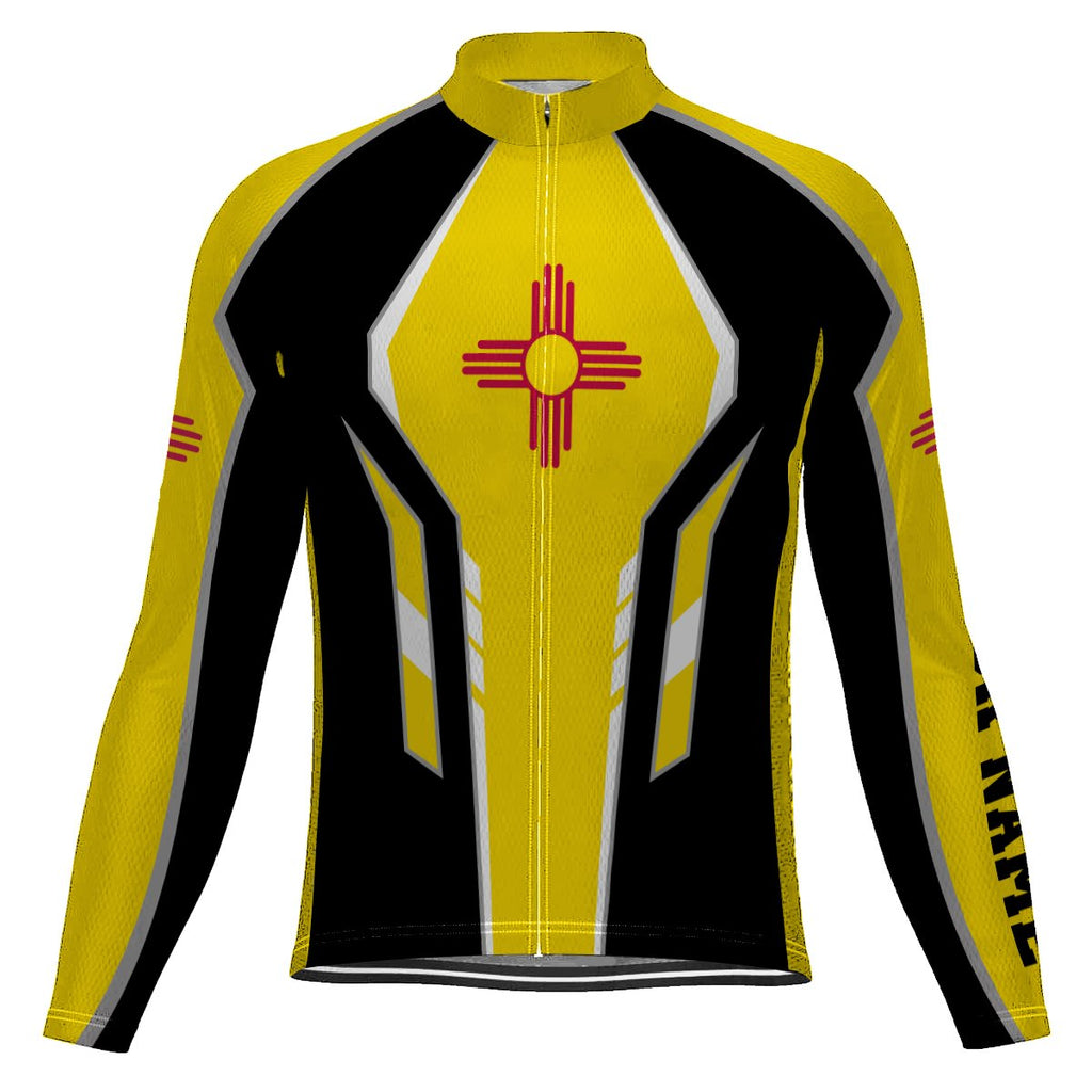 Customized New Mexico Long Sleeve Cycling Jersey for Men