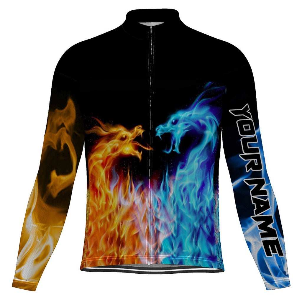 Customized Dragon  Long Sleeve Cycling Jersey for Men