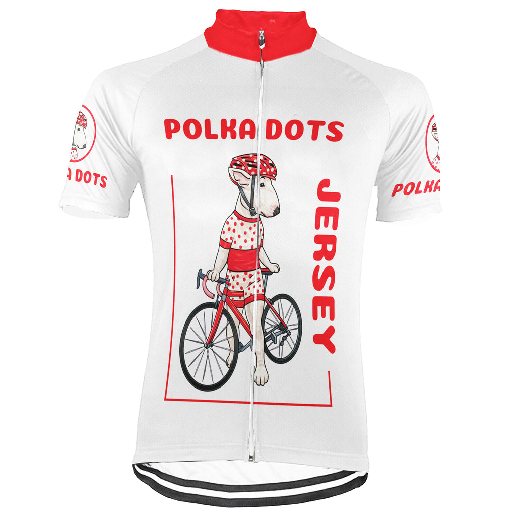 Customized Dog Short Sleeve Cycling Jersey for Men