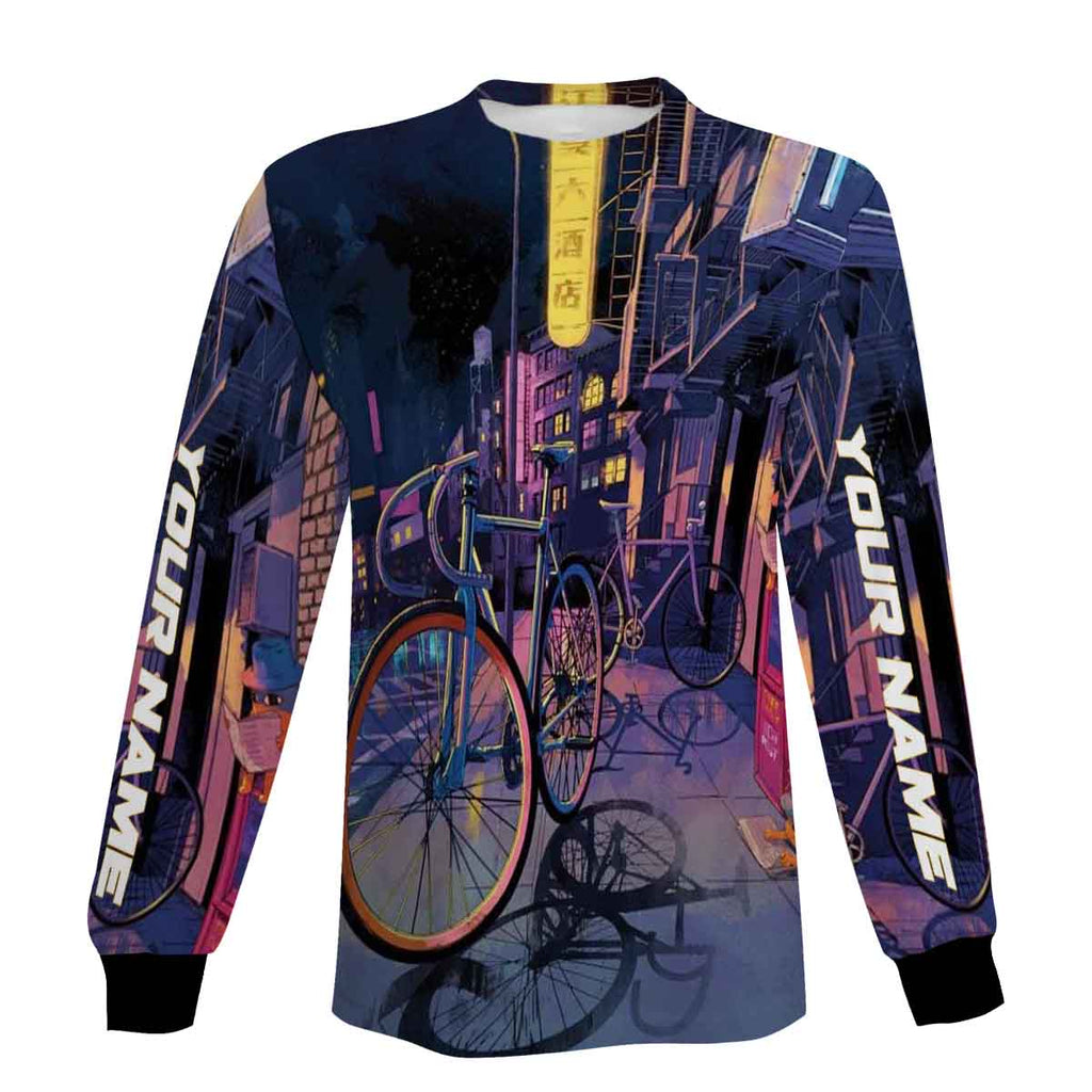 Customized Cycling Full Printing Zip Up Hoodie, Long Sleeve, Hoodie- Great Gift Ideas For Men