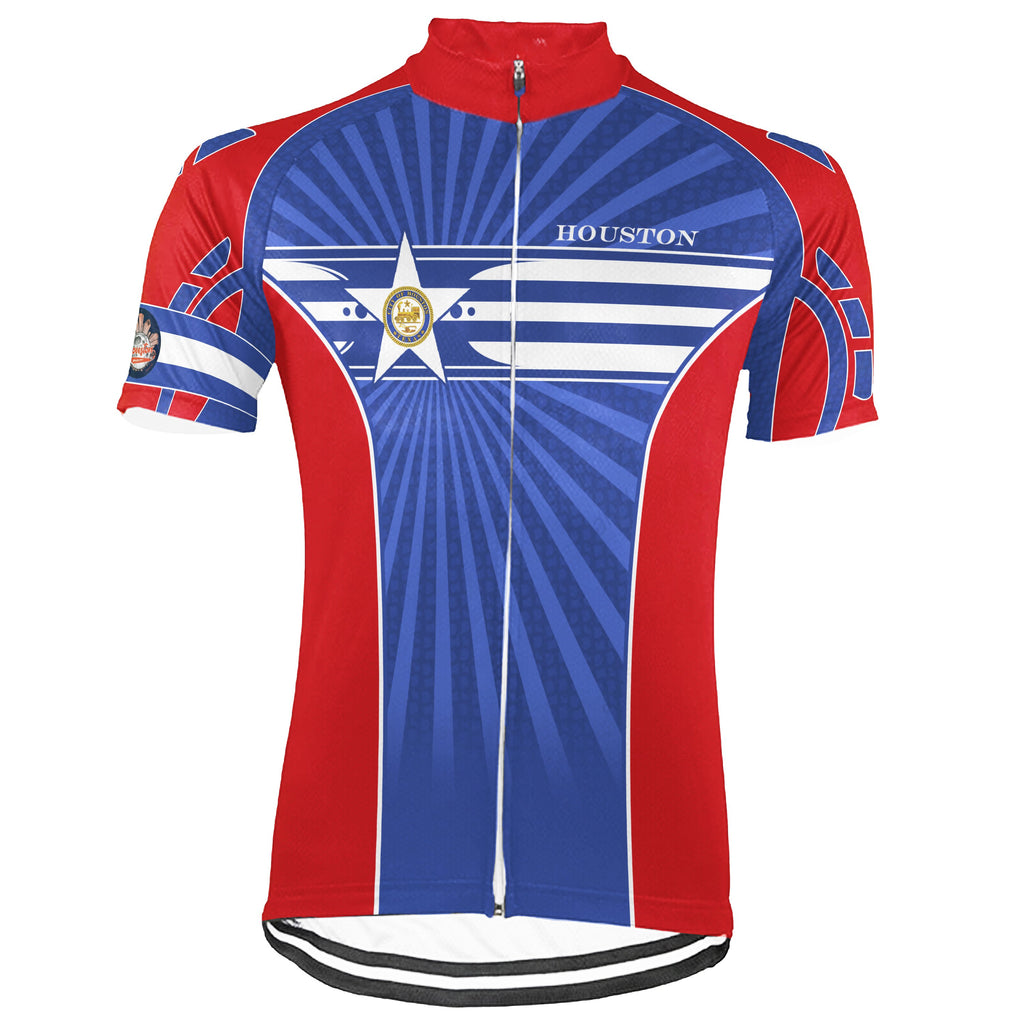 Customized Houston Short Sleeve Cycling Jersey for Men